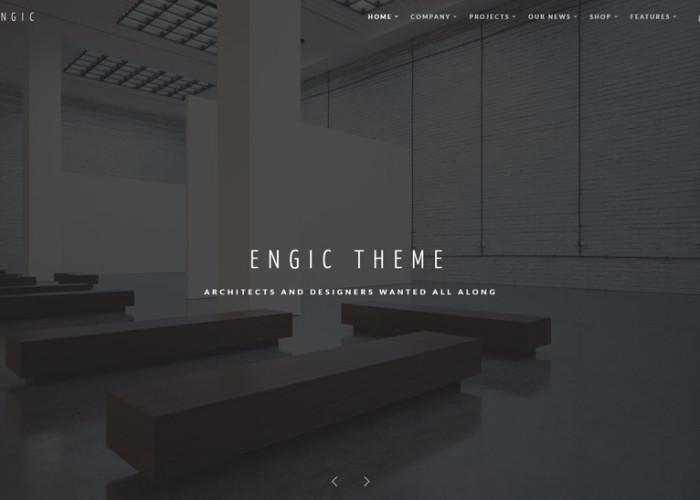 Engic – Premium Responsive Multiuse WordPress Theme for Architects