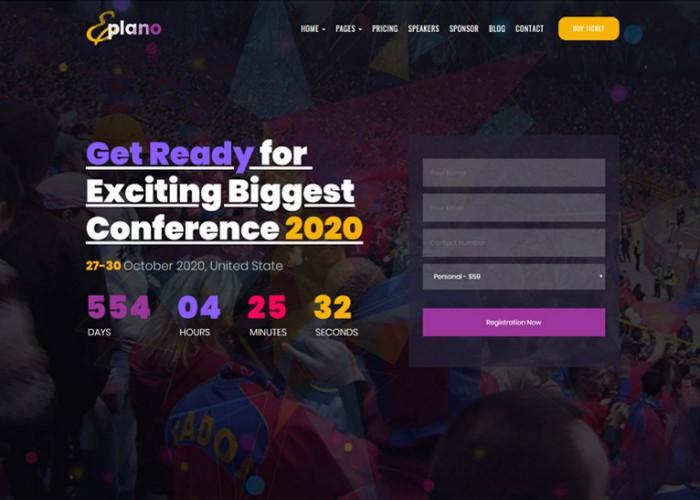 Eplano – Premium Responsive Event and Conference WordPress Theme