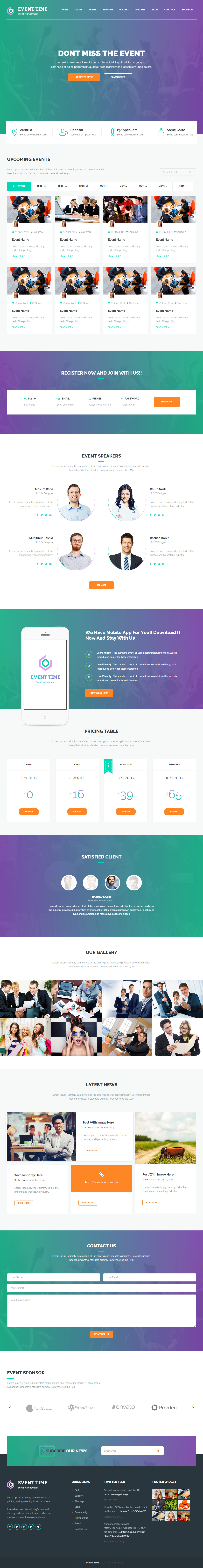 Best Responsive HTML5 Conference Templates in 2015 - Responsive Miracle