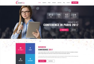 Eventic – Premium Responsive Conference & Event HTML5 Template