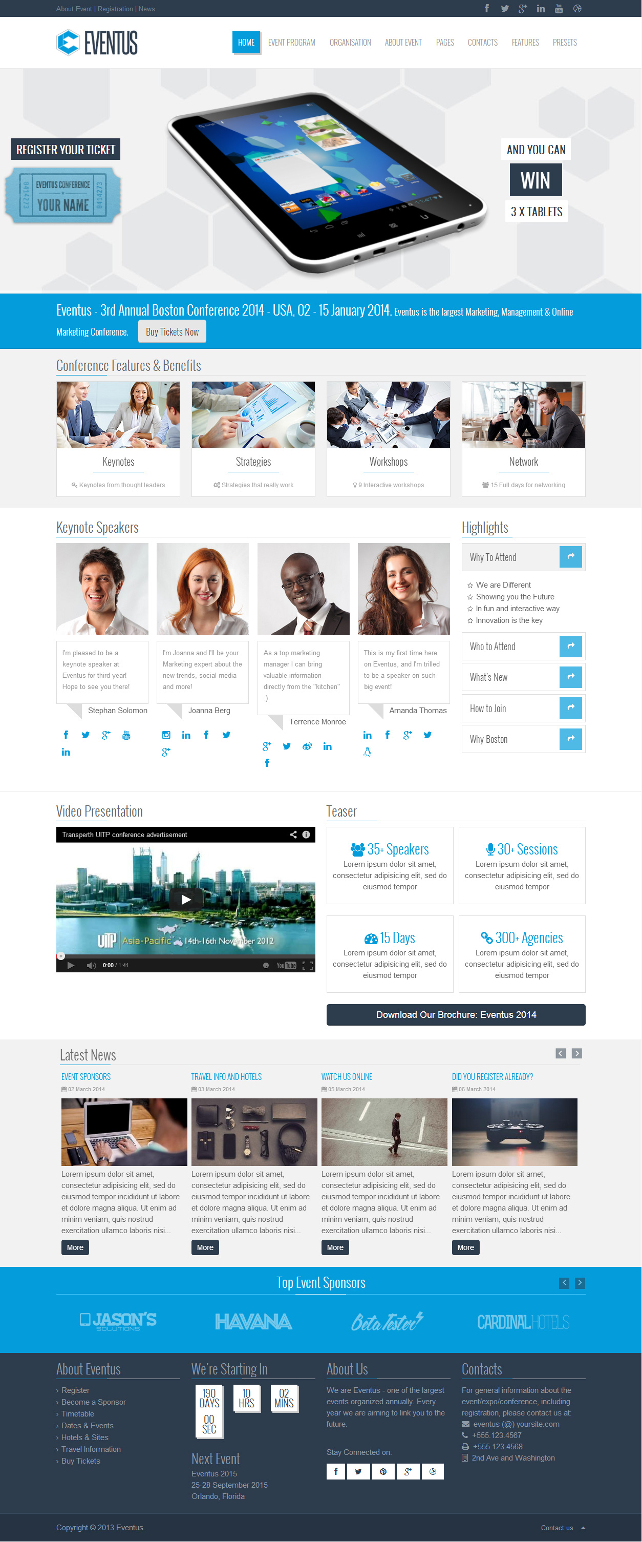 agora clean joomla 2 5 template joomla themeforest eventus responsive event joomla template themeforest