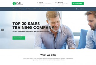 F&O – Premium Responsive Consultant Finance WordPress Theme