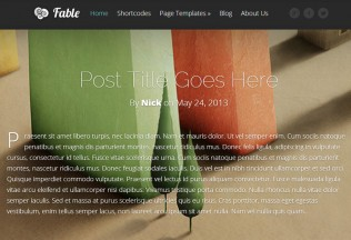 Fable – WordPress Premium Responsive Theme