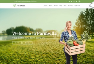 Farmvilla – Premium Responsive Organic Food WordPress Theme