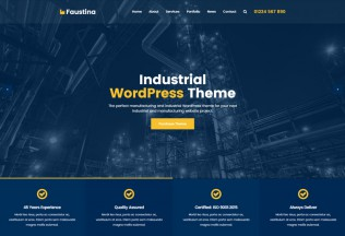 Faustina – Premium Responsive Industrial WordPress Theme