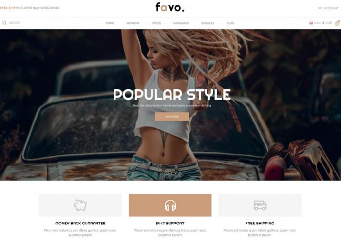 Favo – Premium Responsive Multipurpose Fashion Opencart 3.x Theme