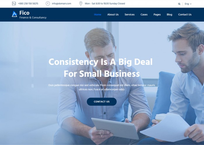 Fico – Premium Responsive Finance & Consulting Business HTML5 Template