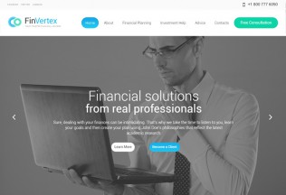 Fin Vertex – Premium Responsive Financial Advisor WordPress Theme