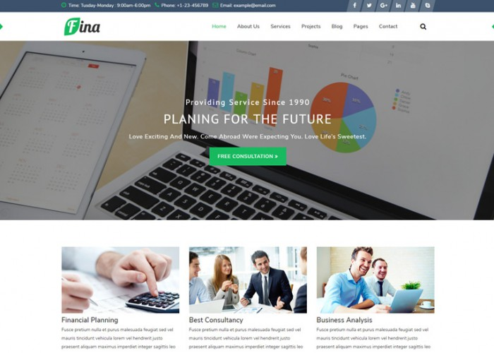 Fina – Premium Responsive Business & Finance HTML5 Template