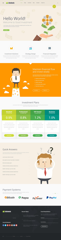 25 Best Responsive HTML5 Finance Website Templates 2017