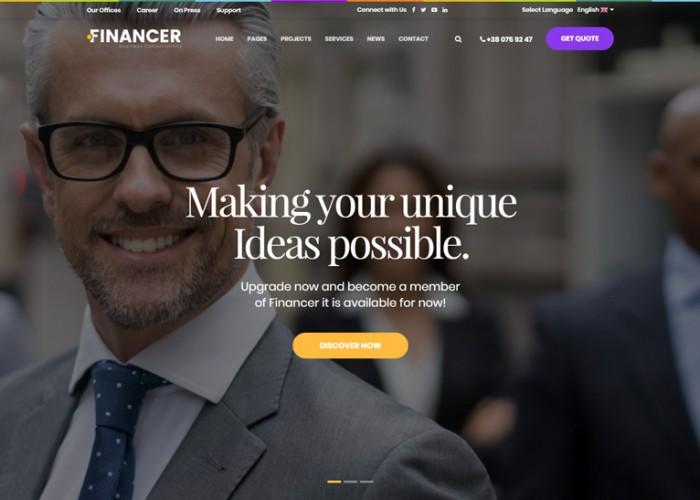 Financer – Premium Responsive Business Consultations HTML5 Template