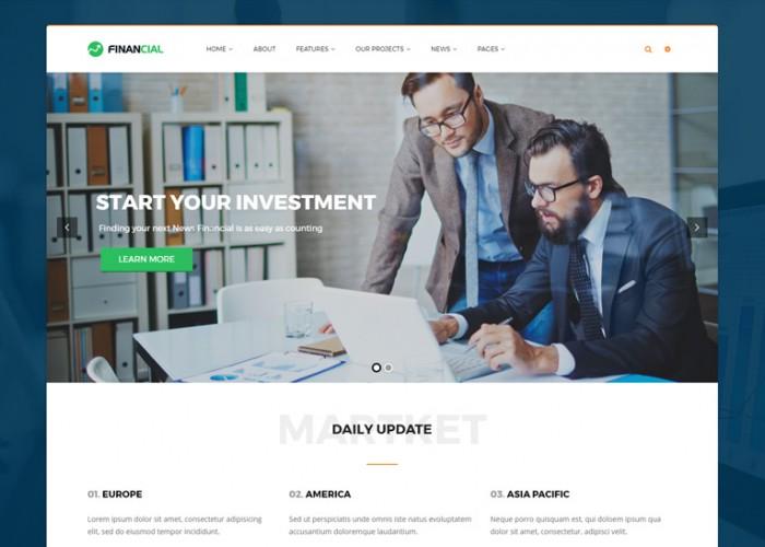 Financial – Premium Responsive Business and Financial WordPress Theme