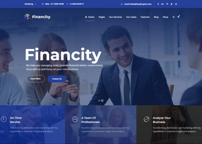 Financity – Premium Responsive Business and Finance HTML5 Template