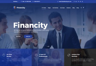 Financity – Premium Responisve Business Finance WordPress Theme