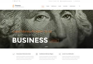 Finanza – Premium Responsive Business & Financial WordPress Theme