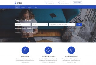 Findeo – Premium Responsive Real Estate & Directory HTML5 Template