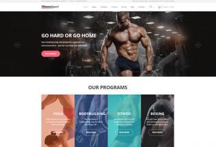 FitnessSport – Premium Responsive HTML5 Template
