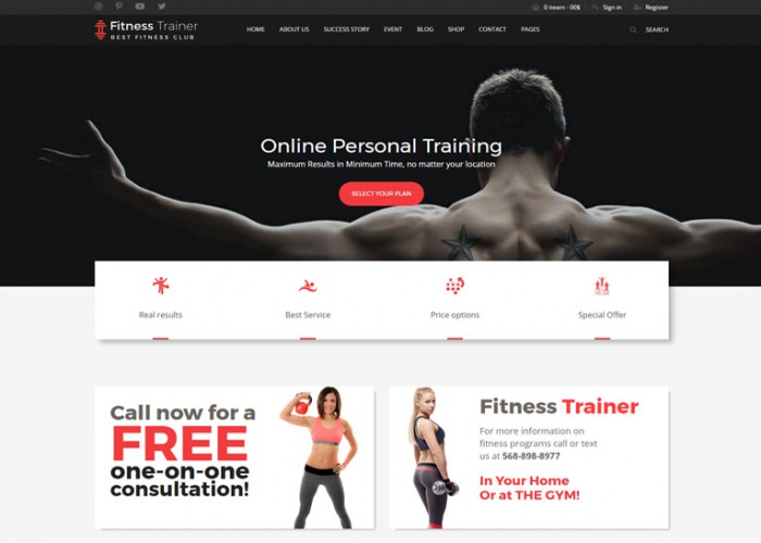 FitnessTrainer – Premium Responsive Bootstrap HTML5 Template