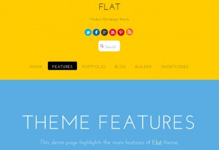 Flat – Premium Responsive Flat One Page Portfolio WordPress Theme