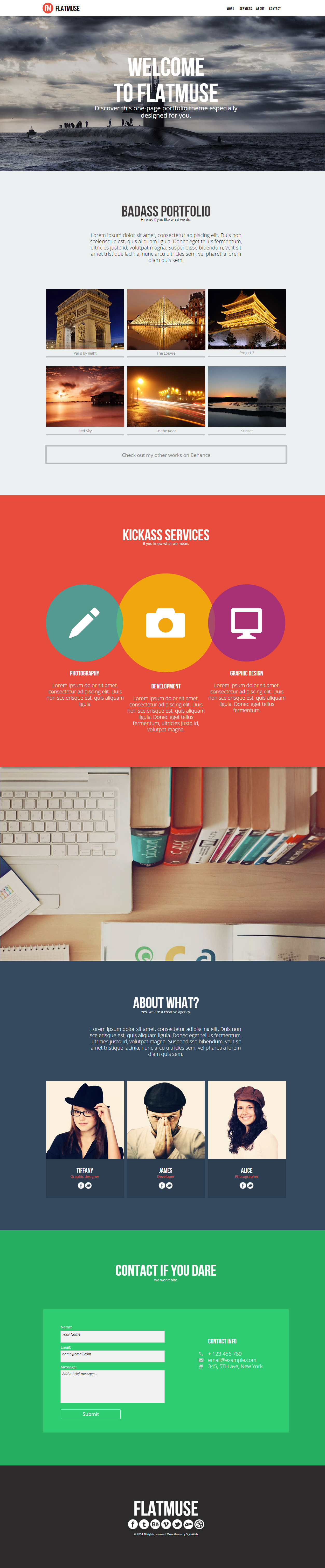 5+ Best Flat Design Muse Templates 2014 - Responsive Miracle