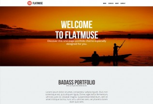 Flatmuse – Premium One Page Muse Template