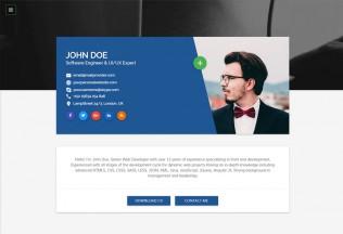 Flatrica – Premium Responsive Material CV HTML5 Template