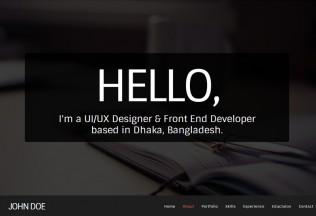FlatX – Premium Responsive One Page Parallax Resume HTML5 Template