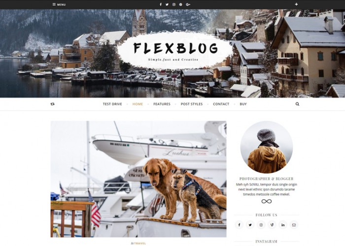 Flexblog – Premium Responsive Fast & Creative WordPress Blog Theme
