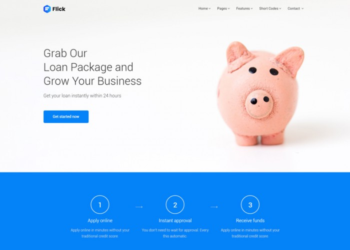 Flick – Premium Responsive Finance, Marketing, Consultation Business HTML5 Template