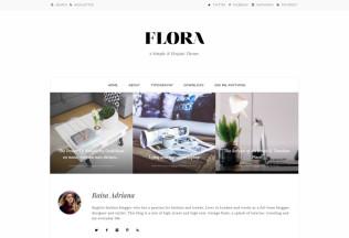 Flora – Premium Responsive Tumblr Theme