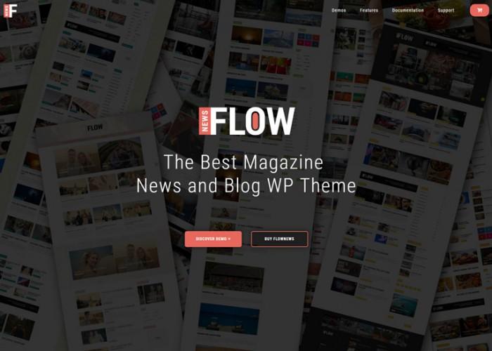 Flow News – Premium Responsive Magazine and Blog WordPress Theme