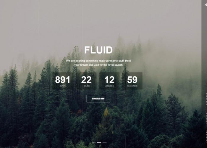 Fluid – Premium Responsive Animated Coming Soon HTML5 Template