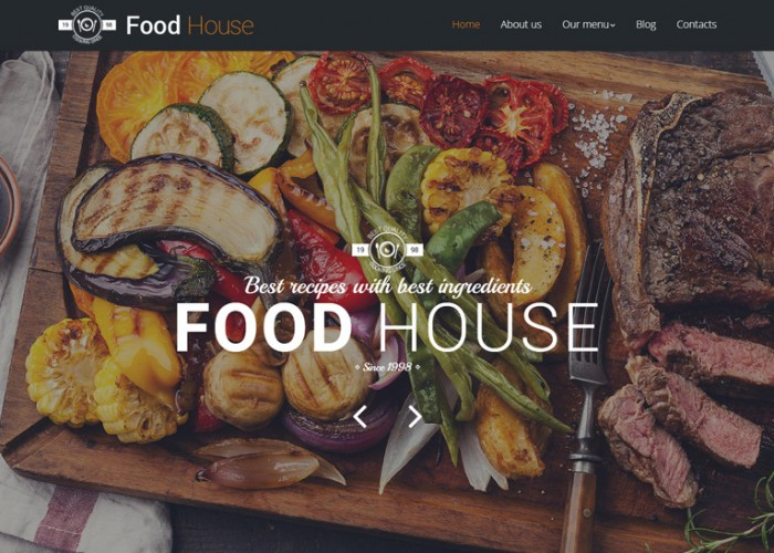 Food House – Premium Responsive Drupal Template