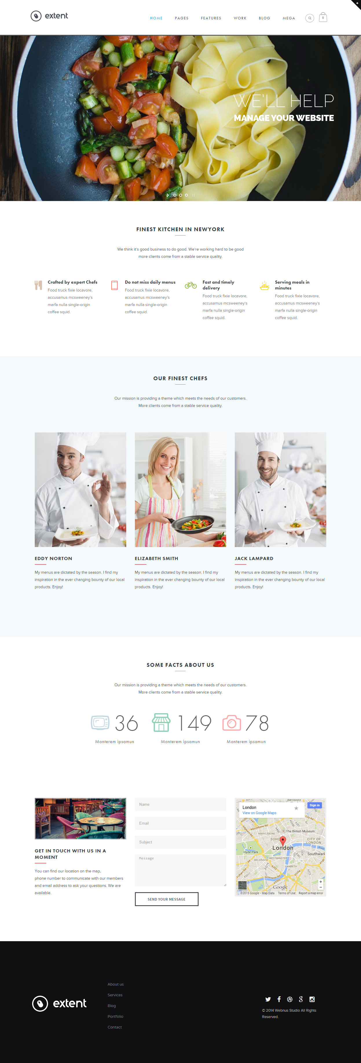25 best responsive html5 food website templates in 2017 extent food website templates pronofoot35fo Choice Image