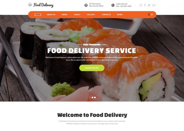 FoodDelivery – Premium Responsive Food Ordering Service HTML5 Template