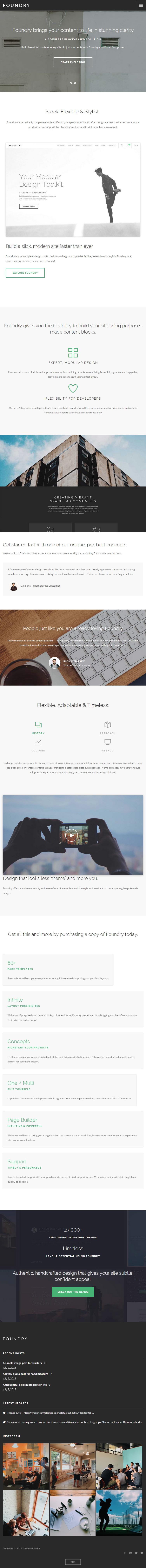 Foundry Premium Responsive Multi Concept Wordpress Theme
