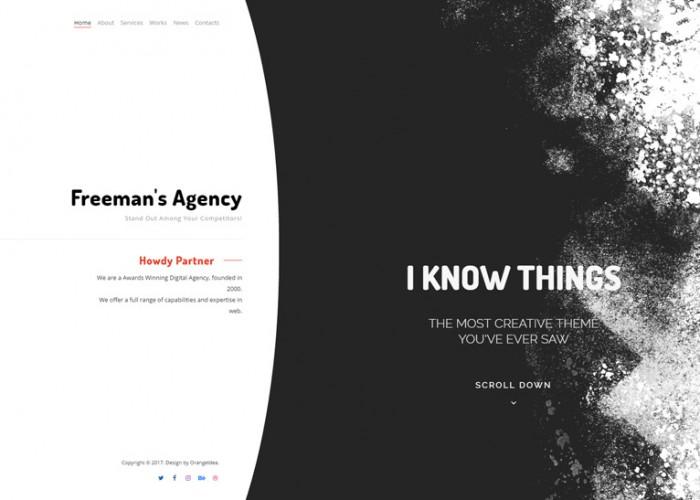 Freeman – Premium Responsive Portfolio & Agency WordPress Theme