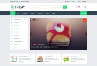 Friday – Premium Responsive Coupons Deals & Promo Codes HTML5 Template