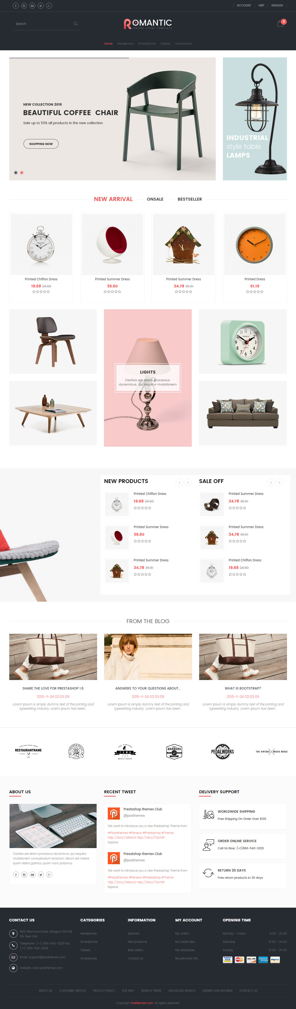 15 best furniture prestashop themes 2017 responsive miracle for Perfect kitchen equipment