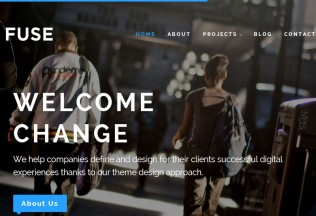 Fuse – Premium Responsive Portfolio & Blog WordPress Theme