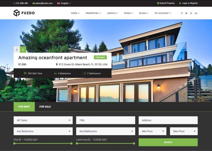 Fuzdo – Premium Responsive Real Estate WordPress Theme