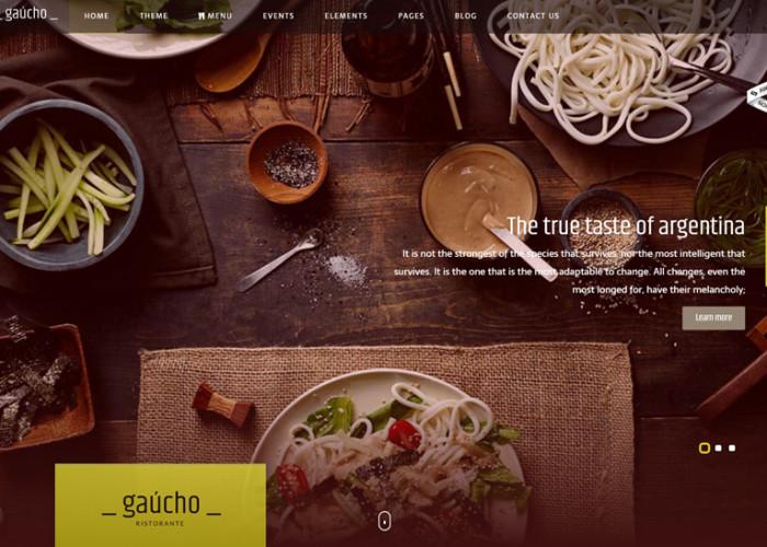 Gaucho – Premium Responsive Food and Restaurant HTML5 Template