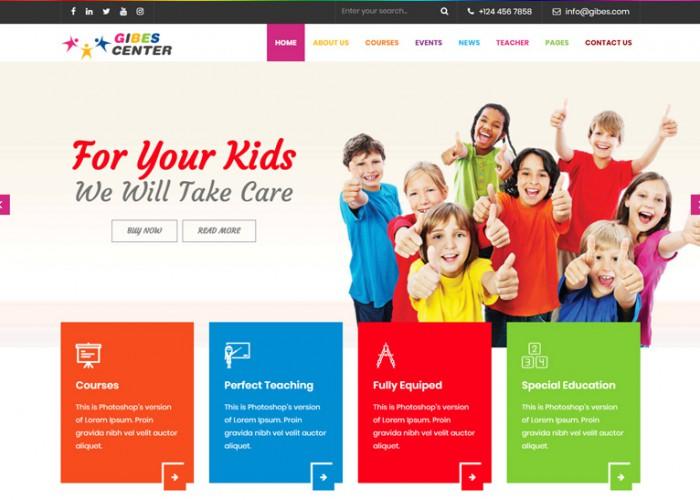Gibes – Premium Responsive Kids Education Center WordPress Theme