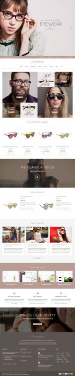 Best Responsive OpenCart Glasses Store Templates 2015