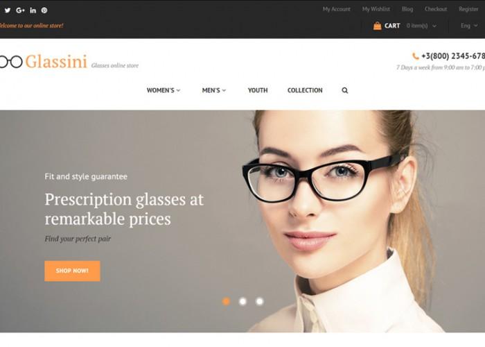 Glassini – Premium Responsive Glasses Magento Theme