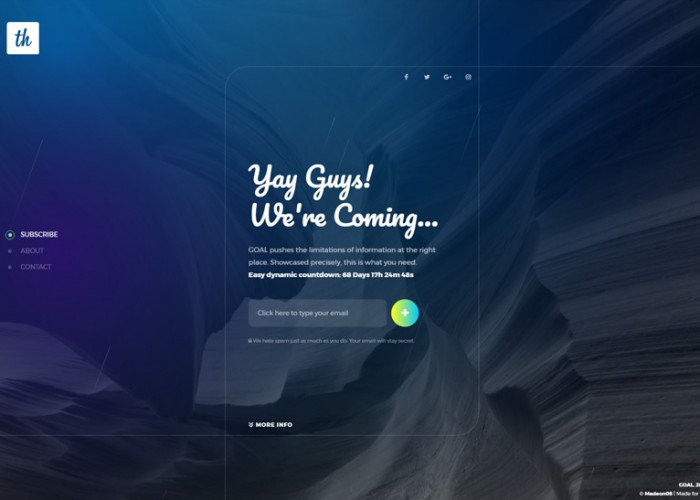 GOAL – Premium Responsive Objective Coming Soon HTML5 Template