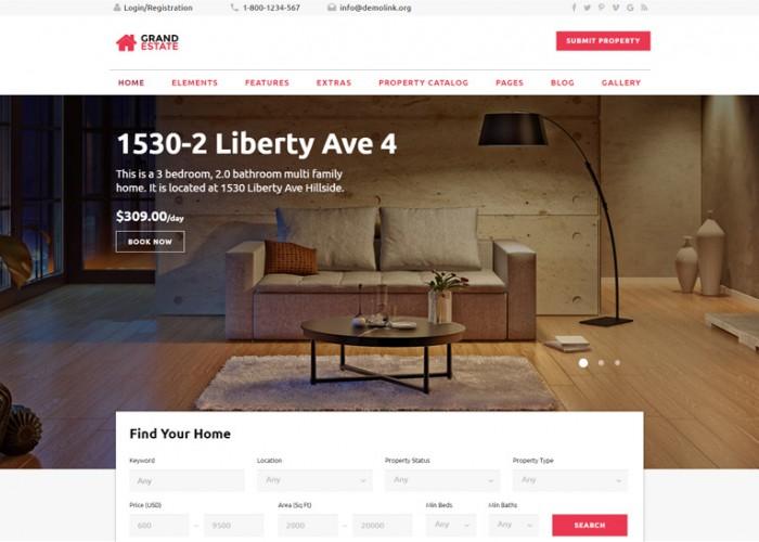 Grand Estate – Premium Responsive HTML5 Template