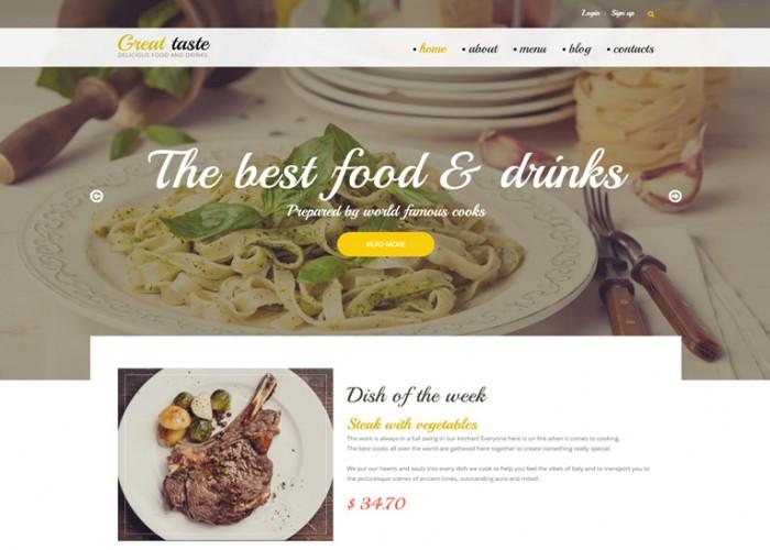Great Taste – Premium Responsive Drupal Template