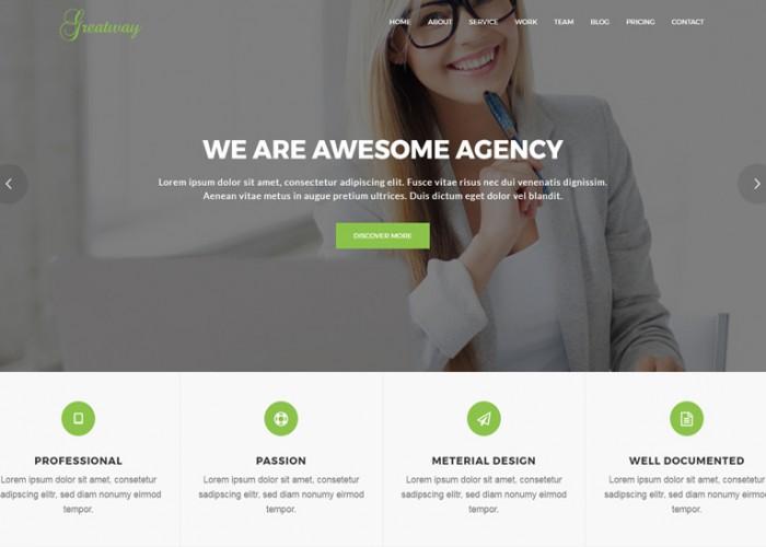 Greatway – Premium Responsive Material Design WordPress Theme