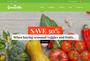 Greenville – Premium Resposnive Organic Food WooCommerce WordPress Theme